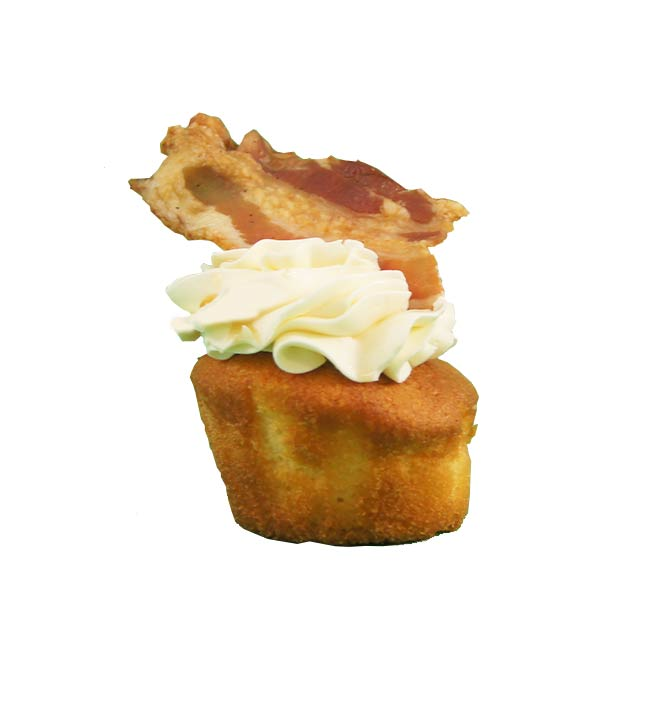 Cup cake vanille bacon