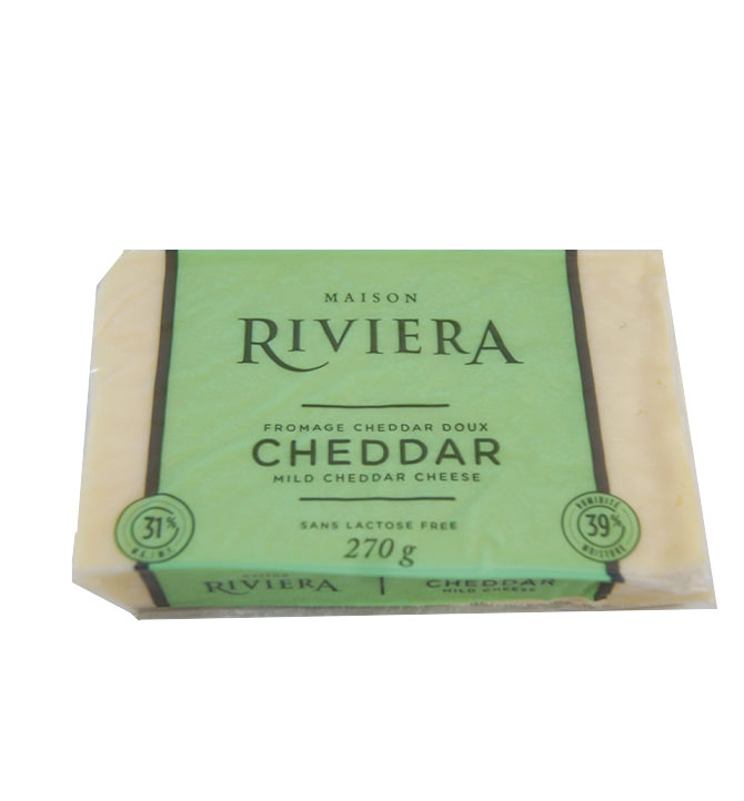 Fromage cheddar doux Riviera 270g