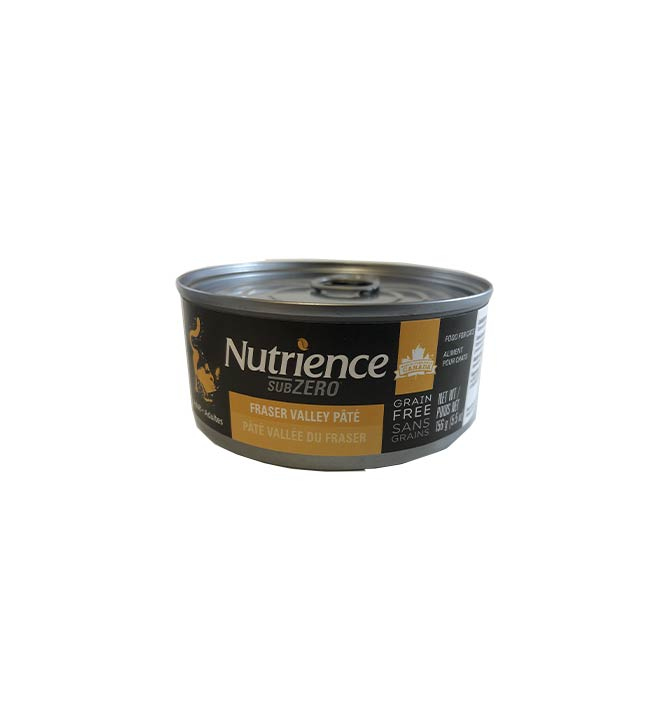 Pate pour chat Nutrience vallee du Fraser 156g